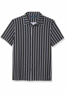 Perry Ellis Men's Vertical Stripe Print Stretch Short Sleeve Button-Down Shirt  XX Large