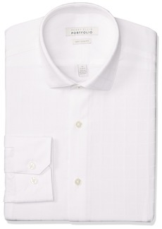 Perry Ellis Men's Very Slim Fit Performance Dobby Dress Shirt  16.5 34/35