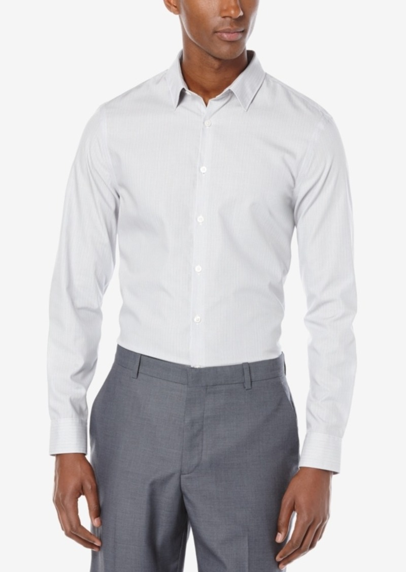 Perry Ellis Men's Wide Gray Stripe Shirt