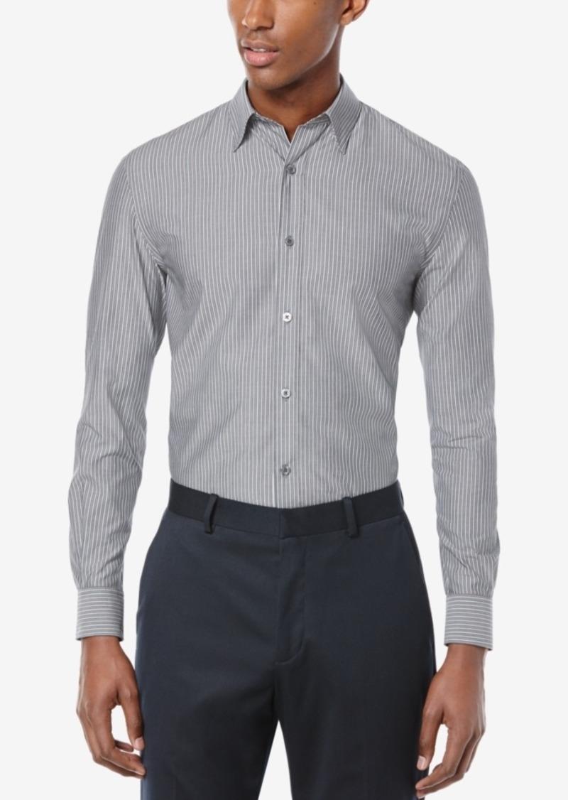 Perry Ellis Men's Wide Stripe Long-Sleeve Shirt