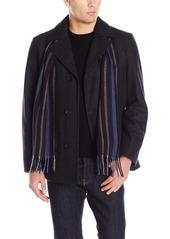 Perry Ellis Men's Wool Button Scarf Coat  XXL