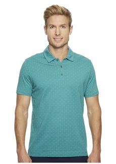 Perry Ellis Micro Print Pima Cotton Polo Shirt