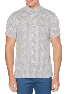 Perry Ellis Mini-Circle Print Stretch Shirt
