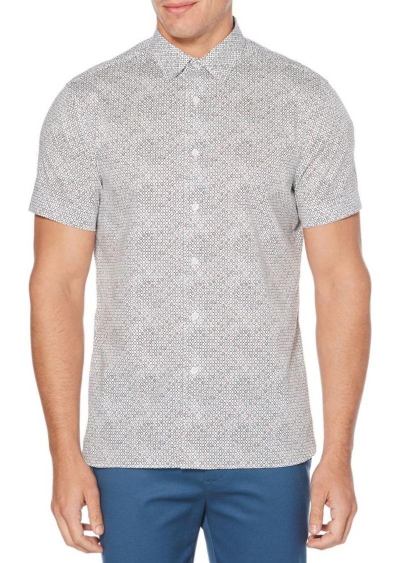Perry Ellis Mini-Circle Print Stretch Shirt