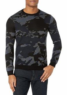 Perry Ellis Motion Men's Camo Long Sleeve Crew Neck Sweater