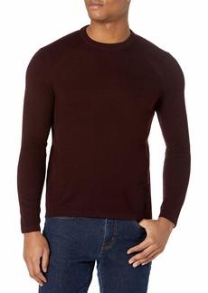 Perry Ellis Motion Men's Textured Merino Long Sleeve Crew Neck Sweater