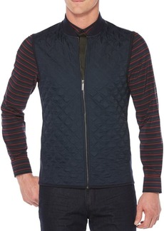 Perry Ellis Nylon Woven Zip Vest