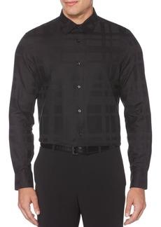 Perry Ellis Plaid Regular-Fit Long-Sleeve Shirt