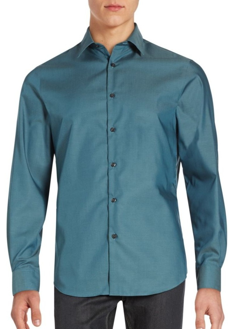 Perry Ellis Point Collar Cotton Shirt