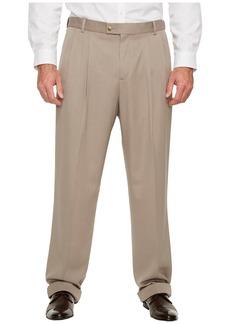Perry Ellis Big and Tall Double Pleat Melange Portfolio Dress Pants