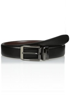 Perry Ellis Men's Perry Ellis Portfolio Men's 2 - Tone Matte and Shine Buckle Reversible Belt Black/brown