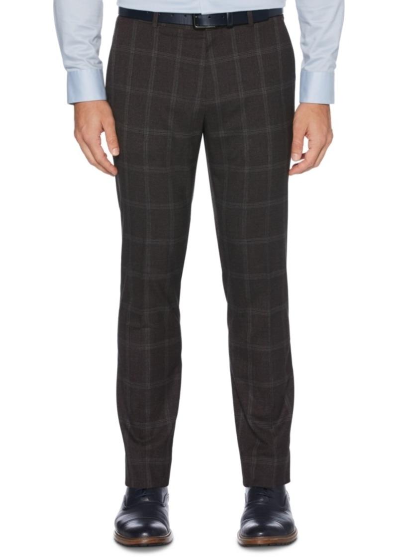 Perry Ellis Portfolio Men's Extra Slim-Fit Stretch Large Windowpane Dress Pants