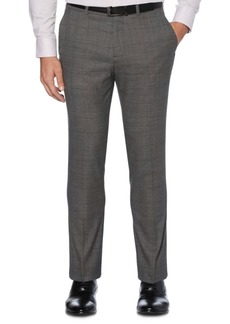 Perry Ellis Portfolio Men's Extra Slim-Fit Stretch Tonal Heathered Plaid Dress Pants