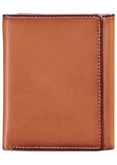 Perry Ellis Portfolio Men's Leather Gramercy Slim Trifold Wallet