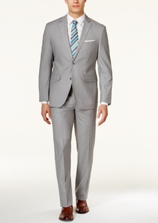 Perry Ellis Portfolio Men's Light Grey Slim-Fit Suit