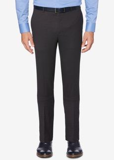 Perry Ellis Portfolio Men's Slim-Fit Performance Stretch Check Dress Pants