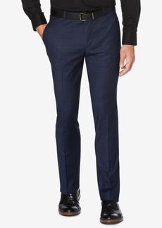 Perry Ellis Portfolio Men's Slim-Fit Performance Stretch Windowpane Plaid Dress Pants