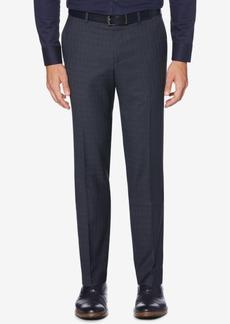 Perry Ellis Portfolio Men's Slim-Fit Stretch Subtle Plaid Dress Pants