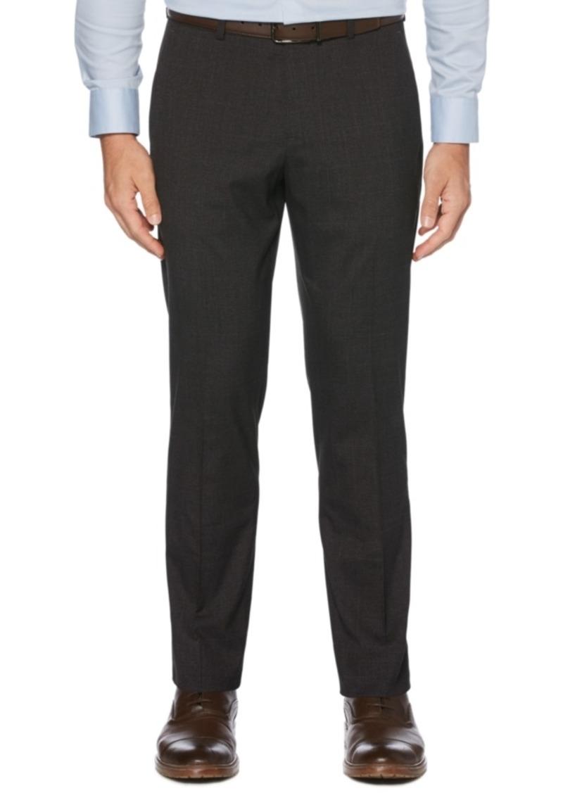 Perry Ellis Portfolio Men's Slim-Fit Stretch Tonal Plaid Dress Pants