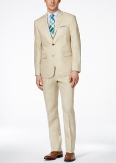 Perry Ellis Portfolio Men's Tan Slim-Fit Suit