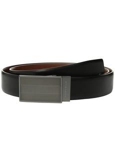 Perry Ellis Reversible Herringbone Pattern Plaque Belt