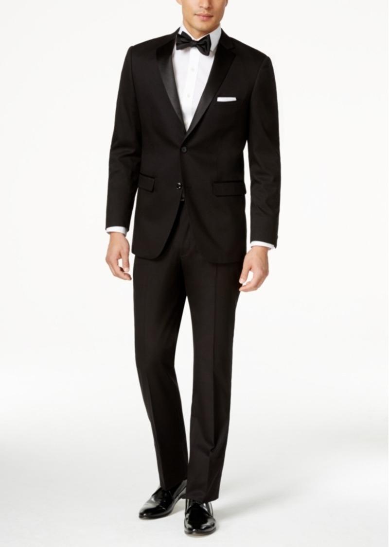 Perry Ellis Portfolio Solid Black Slim-Fit Tuxedo