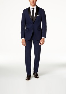 Perry Ellis Portfolio Solid Navy Slim-Fit Tuxedo