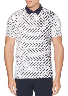 Perry Ellis Printed Polo Shirt