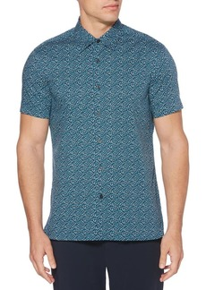 Perry Ellis Puzzle-Print Button-Down Shirt