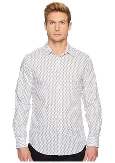 Perry Ellis Regular Fit Bouquet Print Stretch Shirt
