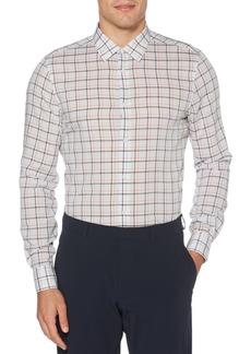Perry Ellis Regular-Fit Checked Long-Sleeve Shirt