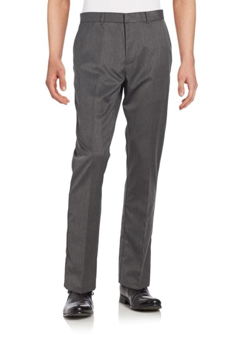 Perry Ellis Regular-Fit Herringbone Trousers