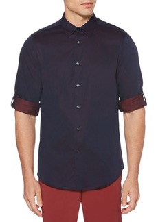 Perry Ellis Regular-Fit Jacquard Shirt