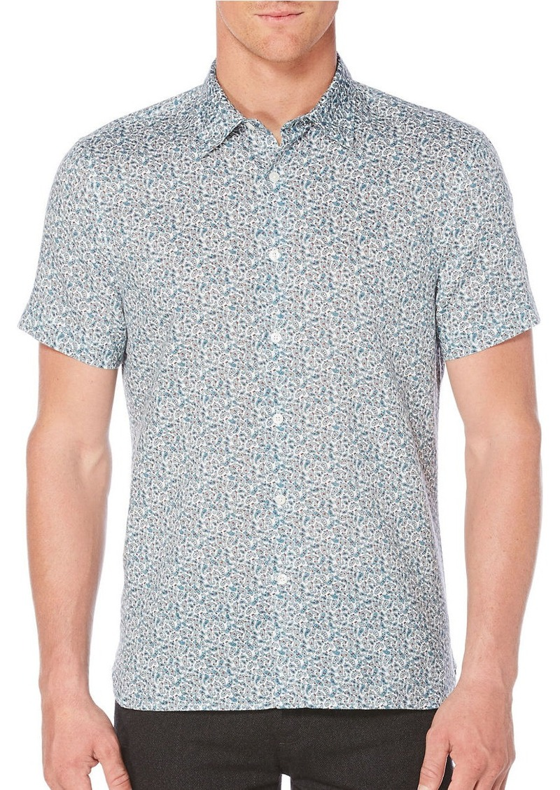 PERRY ELLIS Regular-Fit Paisley Printed Shirt