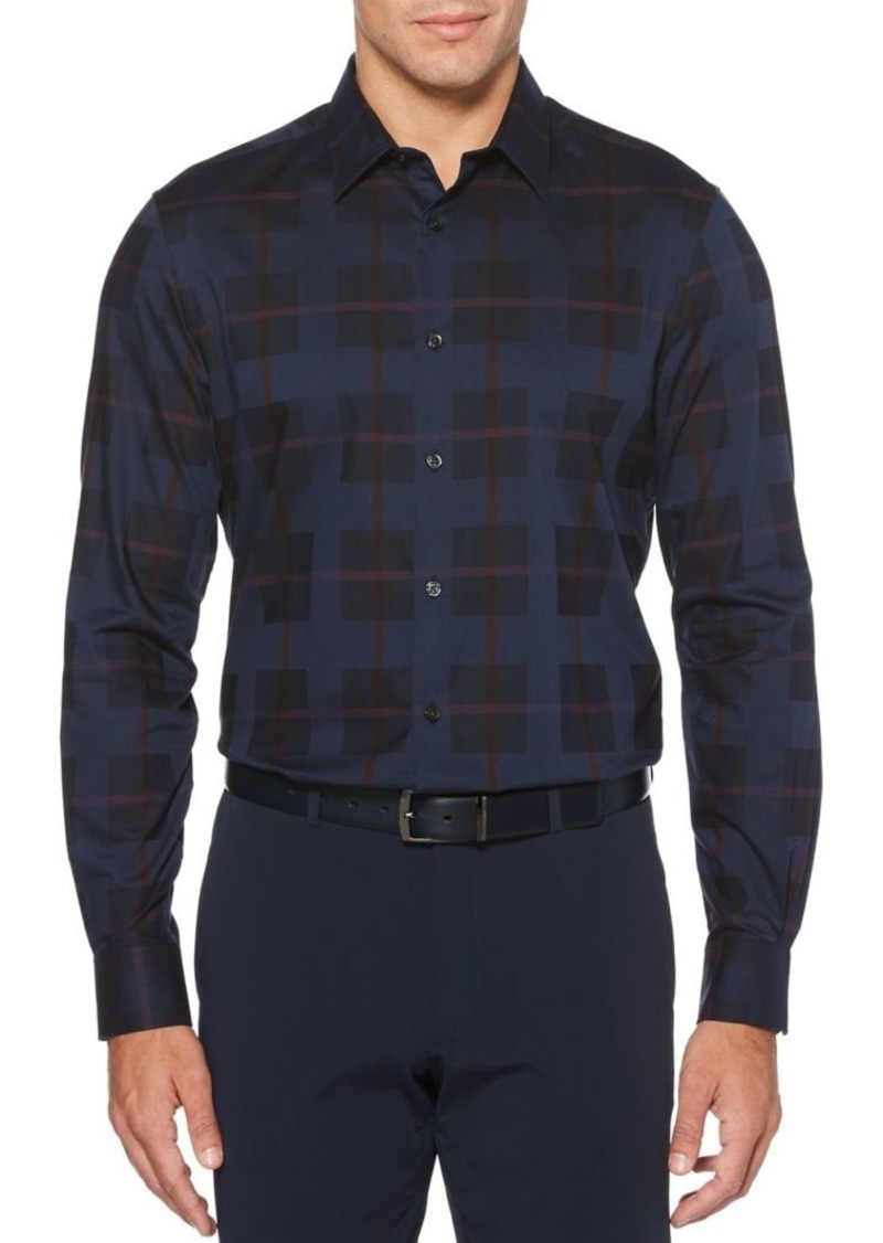 Perry Ellis Regular-Fit Plaid Dobby Shirt