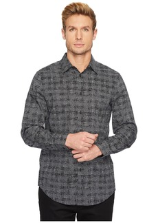 Perry Ellis Regular Fit Scribble Check Dress Shirt
