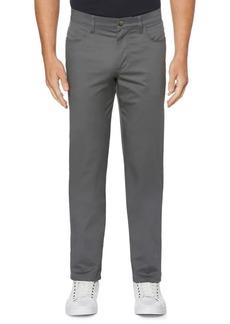 Perry Ellis Regular-Fit Stretch Five-Pocket Sateen Pants