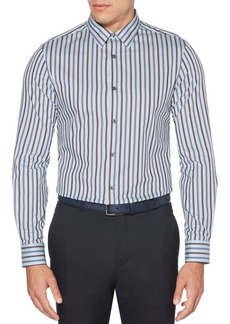 Perry Ellis Regular-Fit Striped Twill Shirt