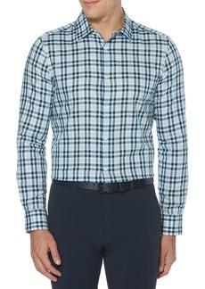 Perry Ellis Resist Spill Slim-Fit Checkered Shirt