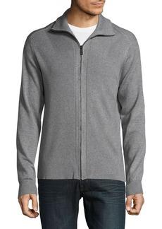 Perry Ellis Ribbed Full-Zip Sweater