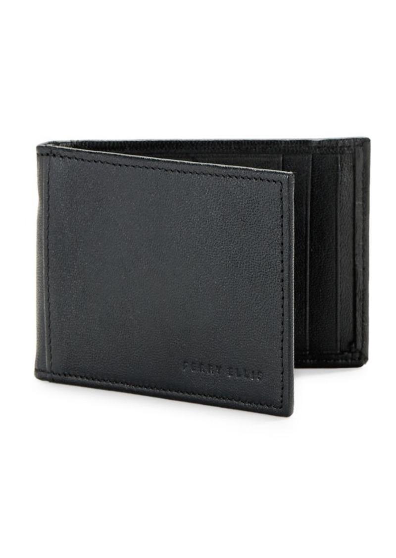 Perry Ellis RIFD-Blocking Leather Portfolio Wallet