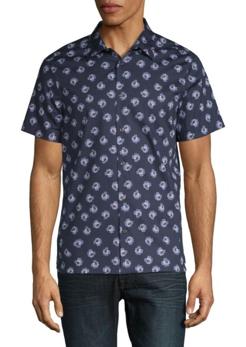 161fa6c4c2 Perry Ellis Rose Button-Down Shirt