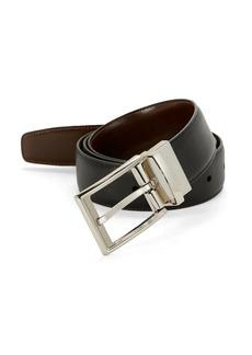 Perry Ellis Saffiano Leather Belt