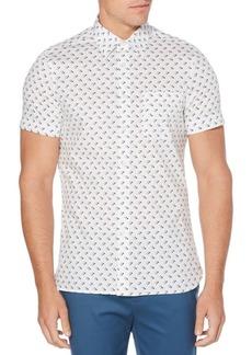 Perry Ellis Screw Print Stretch Short Sleeve Shirt