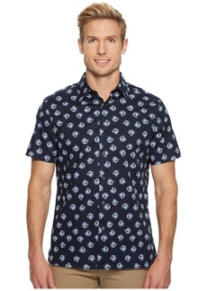 Perry Ellis Short Sleeve Cluttered Rose Shirt