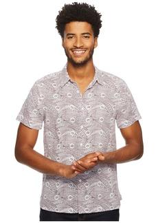 Perry Ellis Short Sleeve Condensed Paisley Linen Shirt
