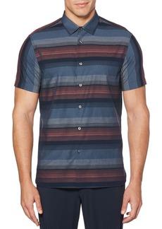 Perry Ellis Short-Sleeve Ombré Stripe Button-Down Shirt
