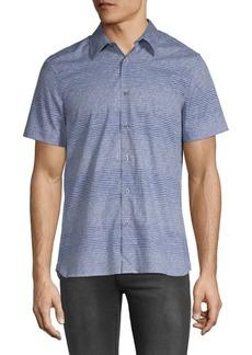Perry Ellis Short Sleeve Scribble Shirt