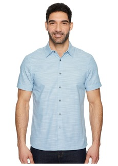 Perry Ellis Short Sleeve Solid Slub Texture Shirt