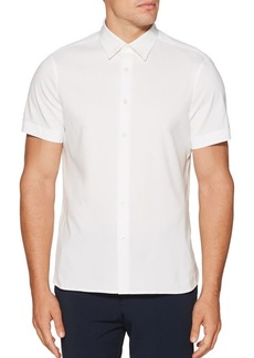 Perry Ellis Short-Sleeve Total Stretch Button-Down Shirt